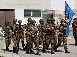 Croatian Army soldiers in Sinj