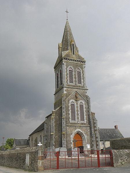 Église paroissiale de Crollon (50).