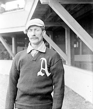 Maine Black Bears baseball - Monte Cross while playing for the Philadelphia Athletics.