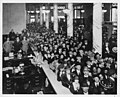 Crowd inside Washington Mutual Savings Bank on opening day, June, 20, 1921 (MOHAI 4314).jpg