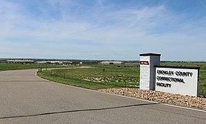 Crowley County Correctional Facility - The facility's entrance.