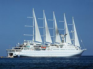 Cruise ship Wind Surf - Giardini-Naxos - Sicily, Italy - 28 July 2009 - (1).jpg