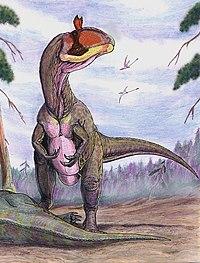Cryolophosaurus u mršiny