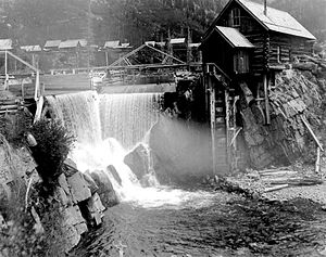 Crystal Mill - The Crystal Mill in operation, 1890s