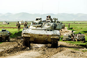 Armoured reconnaissance - A CV90 armoured reconnaissance vehicle of the Norwegian Army on patrol in Afghanistan.