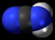 Spac-satiga modelo de la cianamidmolekulo, nitriletaŭtomer