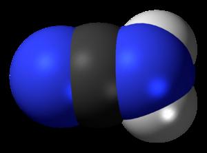 Cyanamide - Image: Cyanamide (nitrile) 3D spacefill