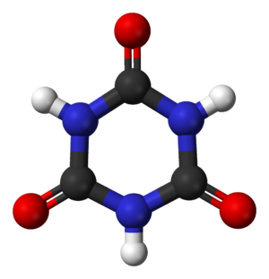 Cyanuric acid - Image: Cyanuric acid from xtal 3D balls