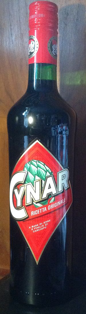 Cynar - 0.7 liter bottle of Cynar.