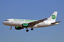 Airbus A319-100 der Germania