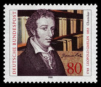 Leopold Gmelin - German postal stamp featuring Gmelin