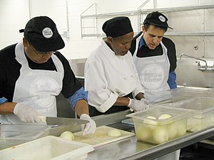 Keith Ellison at a soup kitchen, Washington, D...