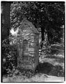 DETAIL, STONE GATE POST - Rose Hill, Woods Road, Tivoli, Dutchess County, NY HABS NY,14-TIV.V,1-2.tif