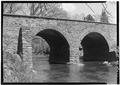DETAILED PERSPECTIVE OF SOUTH FACE AND ARCH SPANS - Stone Bridge, Spanning Bull Run, Manassas, Manassas, VA HAER VA,76-MAN.V,1-3.tif