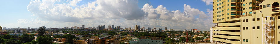 Panoramic view of Santo Domingo viewed from the south (Malecon Center)