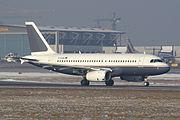 The DaimlerChrysler Aviation Airbus A319CJ.