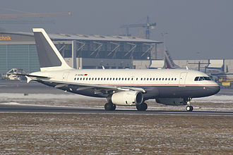 Airbus Corporate Jets - Airbus A319 Corporate Jetliner of Daimler AG Aviation. Early version.