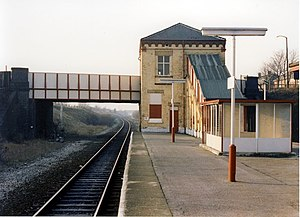 Daisy Hill railway station - Image: Daisy Hill station down side geograph.org.uk 823702