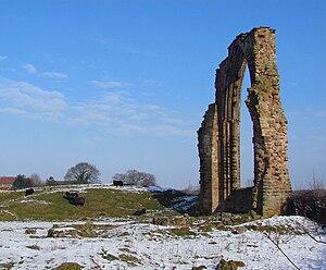 Dale Abbey - Image: Dale Abbey snow