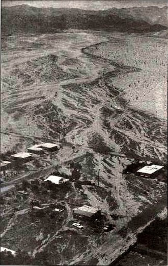 Hurricane Kathleen (1976) - Aerial photo of damage in Ocotillo, California