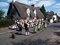 Dancers outside Royal Oak Pub, Hail Weston, Cambridgeshire.jpg