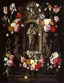 Daniel Seghers and Erasmus Quellinus (II) - Garlands of Flowers surrounding a Statue of the Madonna.jpg