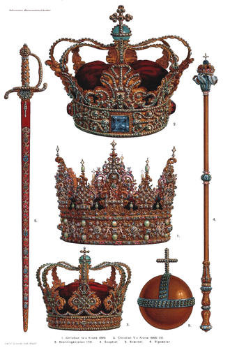 Danish Crown Regalia - Image: Danish Crown Regalia 2