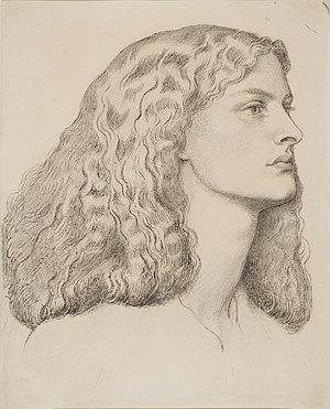 Annie Miller - Portrait of Annie Miller by Dante Gabriel Rossetti