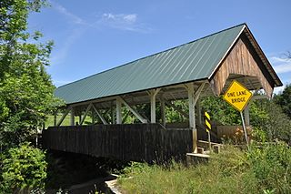 Greenbanks Hollow Covered Bridge building in Vermont, United States