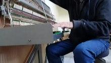 File:David Klavins stimmt sein Una Corda Klavier.webm