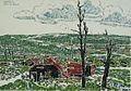 David Milne - Vimy Ridge from Souchez, Estaminet among the Ruins.jpg
