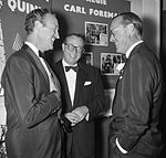 David Niven, Carl Foreman and prince Bernhard 1961.jpg