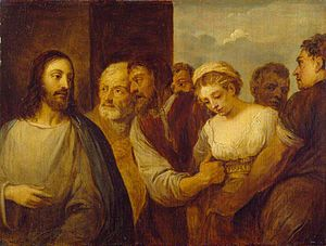 The Woman Taken in Adultery (copy after Titian)