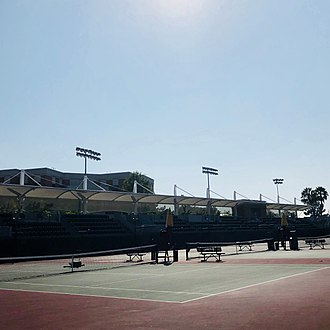 David X. Marks Tennis Stadium - Image: David X. Marks Tennis Stadium Courts (USC)