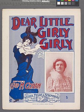 Ethel Levey - Dear little girly, girly (NYPL Hades-608833-1256143); sheet music featuring a photograph of Ethel Levey.