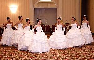 Débutante dress - American debutantes, February 2009
