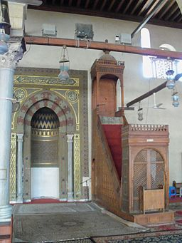 December photowalk - inside 'Amr ibn al-'As mosque - mihrab & minbar