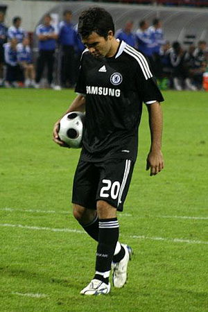 Deco - Deco taking a penalty kick for Chelsea in 2008.