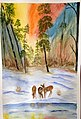 Deer in the snow with trees at dusk -- 4 of 33.jpg
