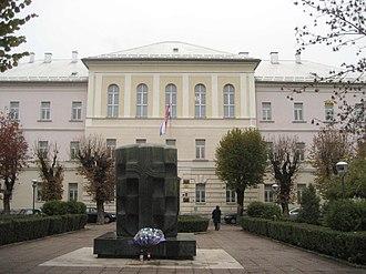 Gospić - Image: Defender´s Memorial in Gospic