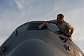 Defense.gov News Photo 100510-F-7951C-013 - U.S. Air Force Staff Sgt. Justin Smith a C-130 Hercules aircraft aerial spray maintainer with the 910th Aircraft Maintenance Squadron.jpg