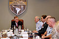 Defense.gov News Photo 110418-D-XH843-002 - Deputy Secretary of Defense William J. Lynn III meets with U.S. Southern Command Commander Gen. Douglas Fraser and the Joint Directors during a.jpg