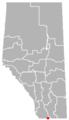 Del Bonita, Alberta Location.png