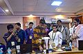Demonstration of digitization of rare and fragile books by Wikimedian Prateek Pattanaik at Odia Wikisource 2.jpg