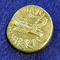 Denario di zecca al seguito di marco antonio, 32-31 ac, MAF 35987.JPG