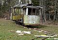 Dernière nouvelle. Un trams de Lausanne trouvé dans un bois..jpg