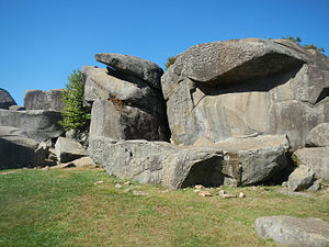 Diabase - Diabase boulders at Devil's Den on the Gettysburg Battlefield, Pennsylvania