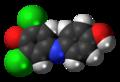 Dichlorophenolindophenol (oxidized) 3D spacefill.png