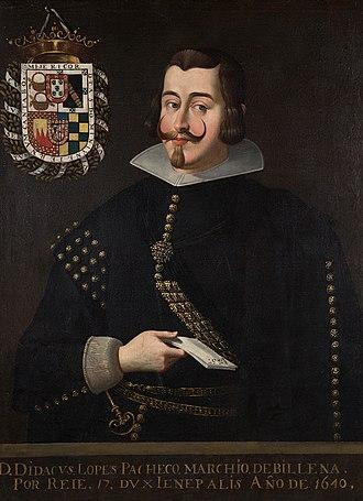 Portuguese Mexican - Diego López Pacheco, 7th Duke of Escalona