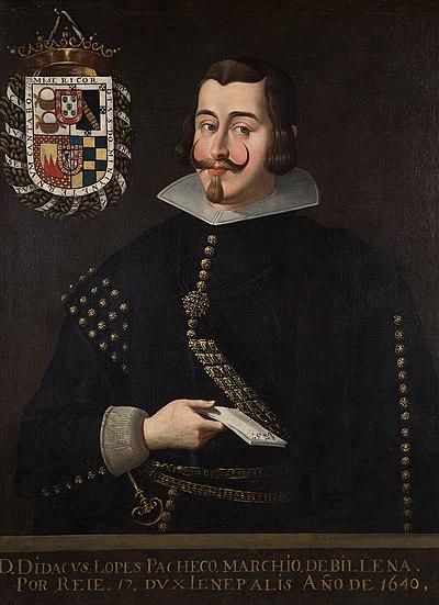 Retrato de lópez Pacheco Cabrera y Bobadilla, Diego.